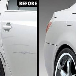 Car Mechanic Fixes Dents and Scratches on Car