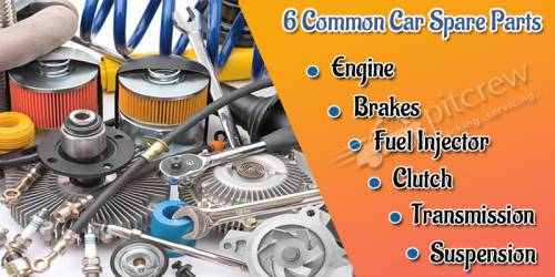 6 Common Car Spare Parts and their Functions