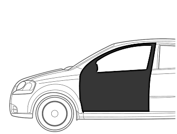 Maruti SX 4 Front Door Left - Dent Paint