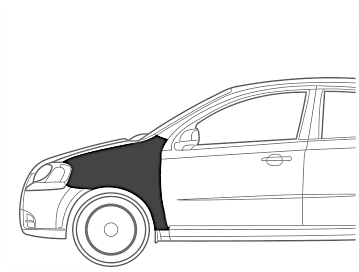 Maruti SX 4 Fender Left Dent Paint