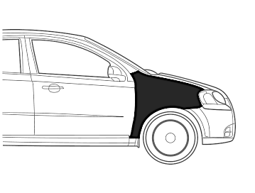 Maruti SX 4 Fender Right Dent Paint