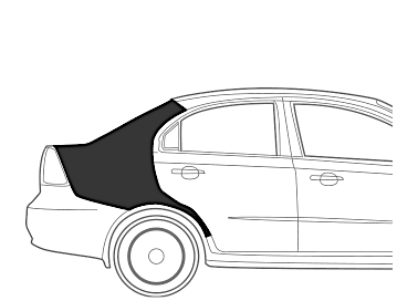 Maruti SX 4 Quarter Panel Right Dent Paint