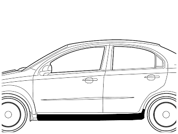 Maruti SX 4 Running Board Left Dent Paint